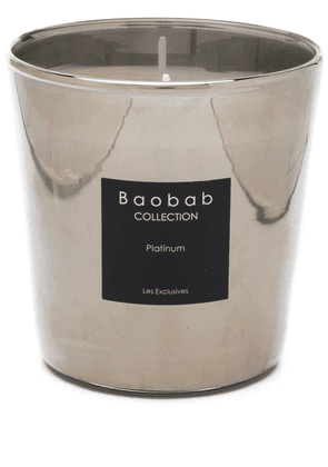 Baobab Collection Platinum scented candle - SILVER