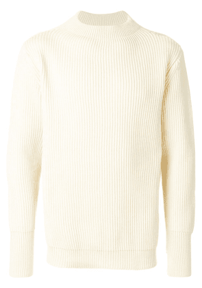 Andersen-Andersen symmetric crew neck sweater - White