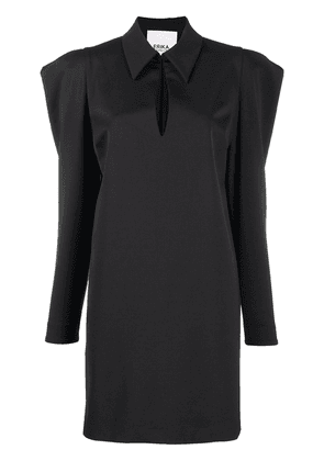 Erika Cavallini statement shoulder dress - Black
