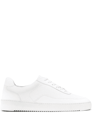 Filling Pieces x Aspesi perforated low-top sneakers - White