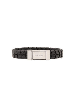 Prada embossed finish bracelet - Black