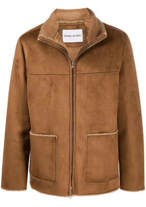 STAND STUDIO faux suede shearling jacket - Brown