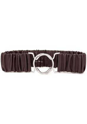 Erika Cavallini ruched waist belt - Brown