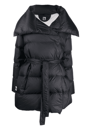 Bacon padded wrap coat - Black