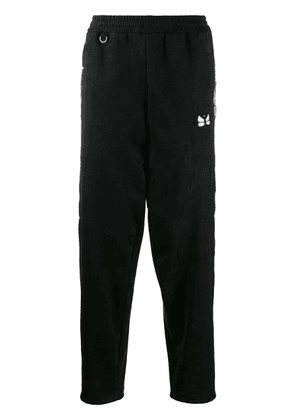 Doublet side-embroidery tailored trousers - Black