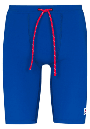 District Vision TomTom drawstring compression shorts - Blue