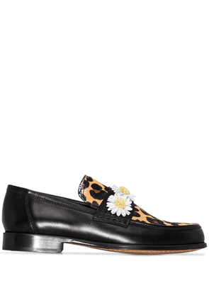 Sophia Webster x Patrick Cox iconic daisy loafers - Black