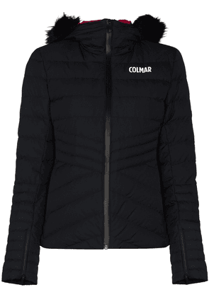 Colmar logo-print hooded puffer jacket - Black