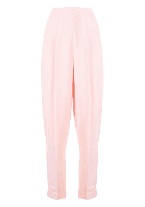 Delpozo crepe carrot let trousers - Pink