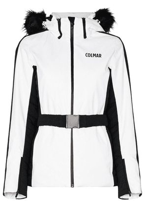 Colmar two-tone hooded ski jacket - White