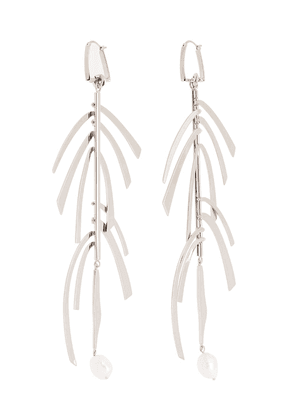 Givenchy silver-tone pearl drop earrings
