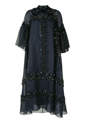 Biyan heavily embellished shift dress - Blue