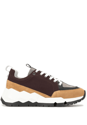 Pierre Hardy two-tone low top sneakers - Brown