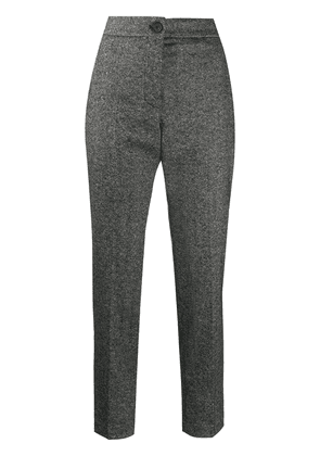 Erika Cavallini high-rise cropped trousers - Grey