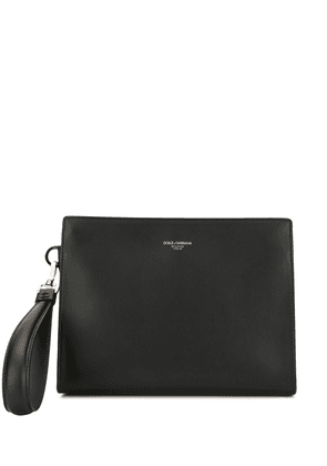 Dolce & Gabbana logo clutch bag - Black