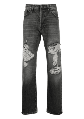 Valentino ripped straight-leg jeans - Grey