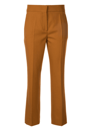 Cédric Charlier slim-fit cropped trousers - Brown