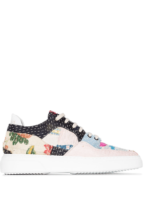 By Walid patchwork low-top sneakers - PINK