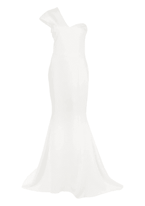 Christian Siriano off-the-shoulder gown - White