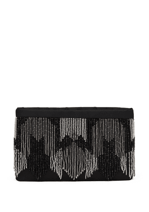 Prada beaded-fringe clutch bag - Black
