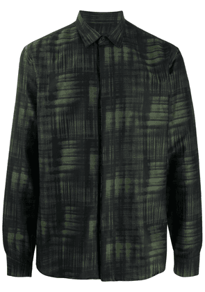 Costumein abstract-print longsleeved shirt - Green