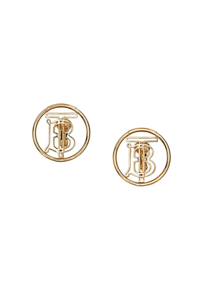 Burberry Gold-plated Monogram Motif Earrings