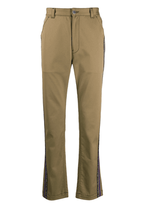 Just Cavalli flared side stripe chinos - Neutrals