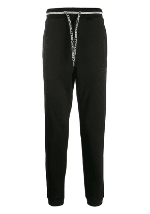 Just Cavalli drawstring logo track pants - Black