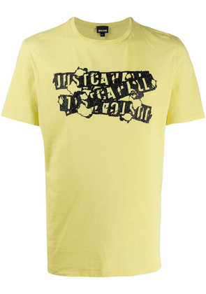 Just Cavalli logo print crew neck T-shirt - Yellow