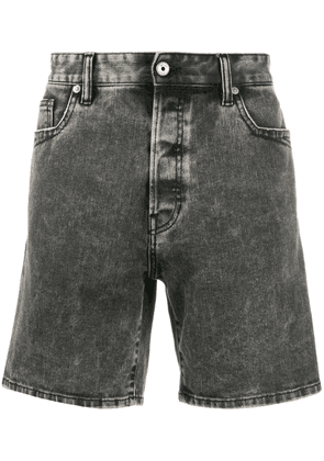 Just Cavalli acid wash denim shorts - Black