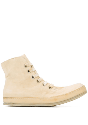 A Diciannoveventitre distressed high-top sneakers - Neutrals