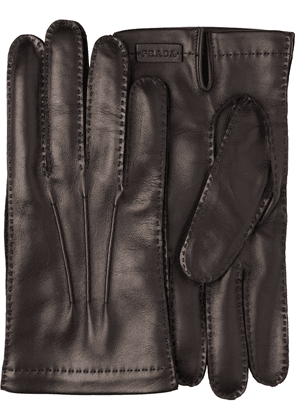 Prada Leather and cashmere gloves - Black