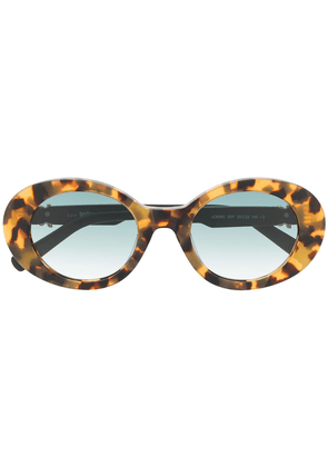 Just Cavalli gradient-lense oval sunglasses - Brown