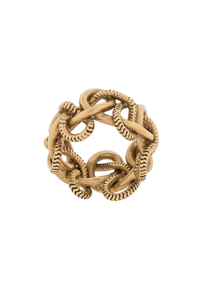 Saint Laurent chain-link ring - GOLD