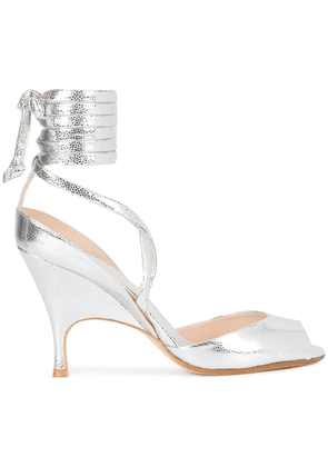 Alchimia Di Ballin wrap tie ankle sandals - Metallic