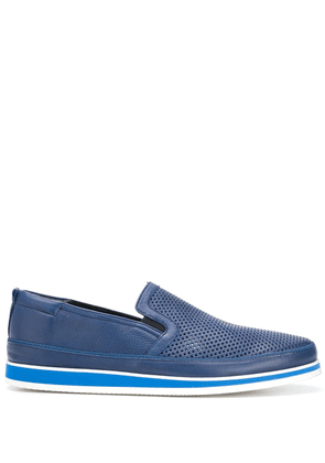 Baldinini perforated front loafers - Blue