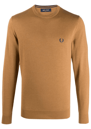 Fred Perry logo embroidered jumper - Neutrals