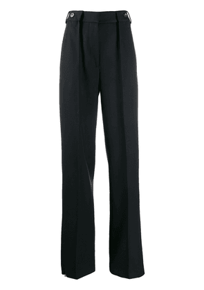 Cédric Charlier high-rise pleated trousers - Blue