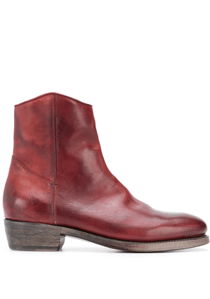 Ajmone zipped ankle length boots - Red