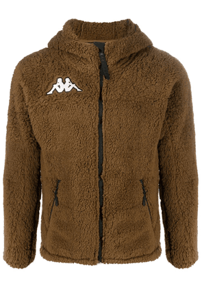 Kappa 6Cento textured hooded jacket - Brown