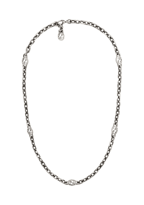 Gucci GG sterling silver necklace