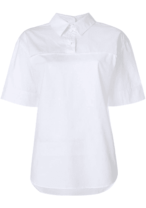 Cédric Charlier oversized polo shirt - White