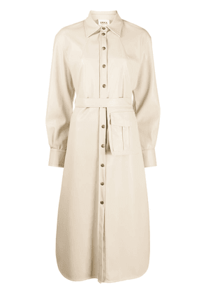 Erika Cavallini belted shirt dress - Neutrals