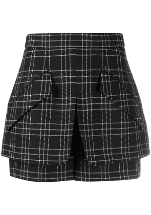 Alexander McQueen checked shorts - Black