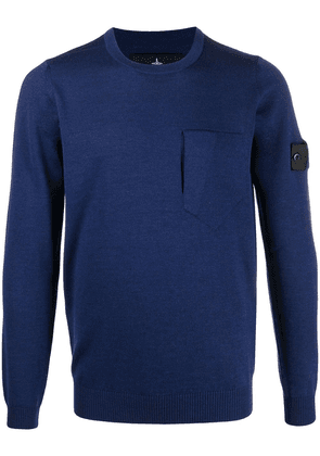 Stone Island Shadow Project patch-pocket sweater - Blue