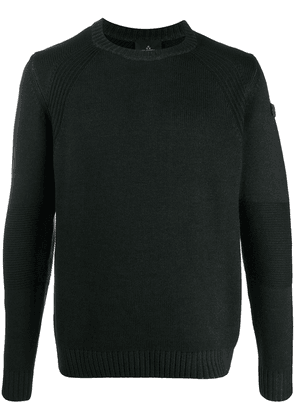 Peuterey jersey ribbed detail jumper - Grey