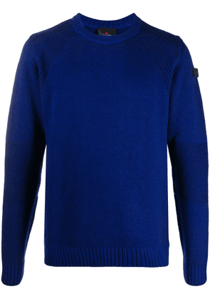 Peuterey jersey ribbed detail jumper - Blue