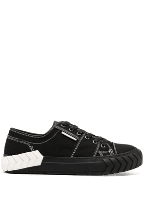 Both two-tone sole low-top sneakers - Black