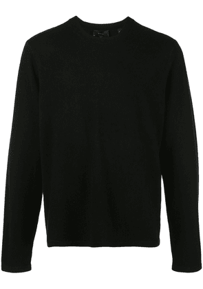 Vince long-sleeve fitted sweater - Black