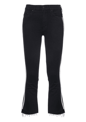 MOTHER cropped racer jeans - Black